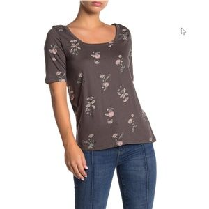 SUSINA Square Neck Elbow Sleeve T-Shirt